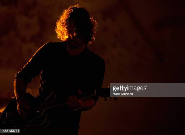 Chris Cornell of Soundgarden performs on stage during the 2014 Lollapalooza Brazil at Autodromo de Interlagos on April 6 2014 in Sao Paulo Brazil