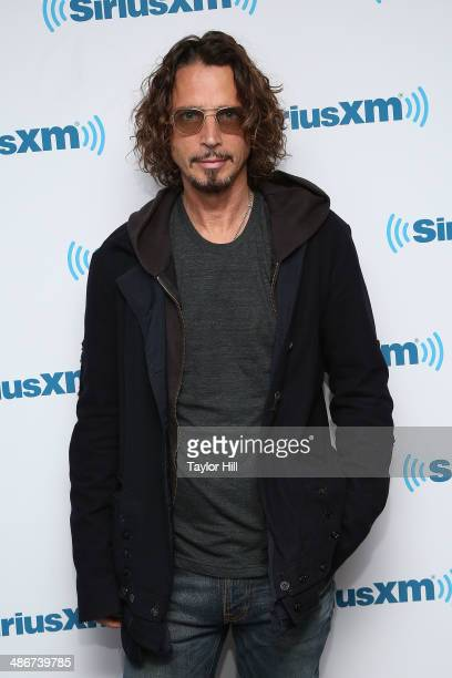 Chris Cornell of Soundgarden visits the SiriusXM Studios on April 25 2014 in New York City
