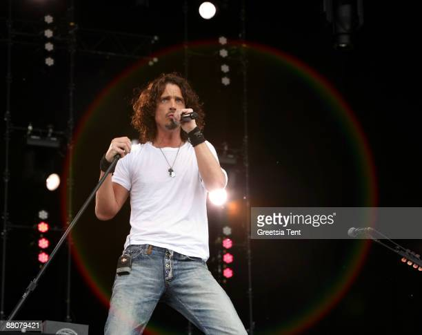 Chris Cornell performs live on day one of the 40th Pinkpop Festival at Megaland on May 30 2009 in Landgraaf Netherlands