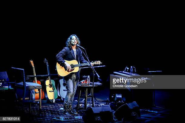 Chris Cornell performs on stage at the Royal Albert Hall on May 03 2016 in London England