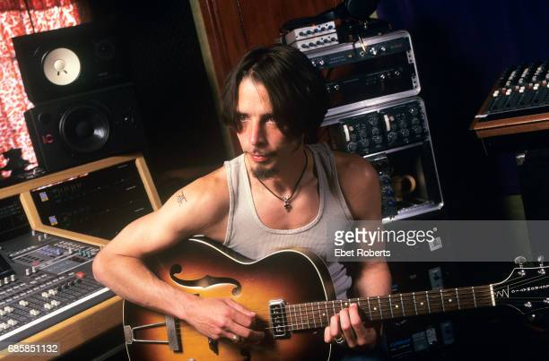 Chris Cornell photographed in a studio control room in Los Angeles California on June 22 1999