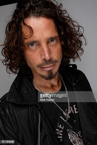 Chris Cornell posed backstage at the Download Festival Donington Park Leicestershire on June 13 2009