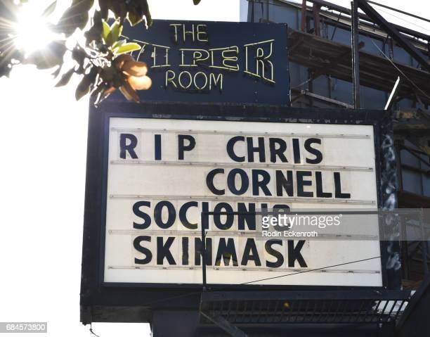 Chris Cornell remembered at the Viper Room on May 18 2017 in Los Angeles California