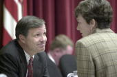 Chris Cox RCalif and Heather Wilson RNM talk before the start of the hearing on the Firestone Tire recall