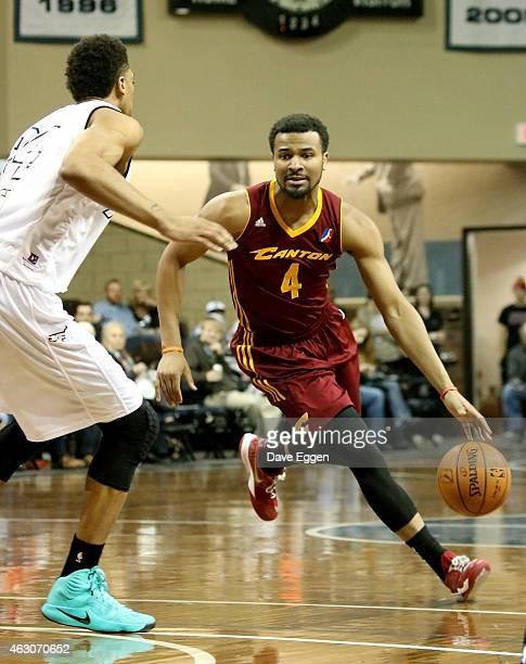 Chris Crawford from the Canton Charge drives against Khem Birch from the Sioux Falls Skyforce in the first half of their NBA DLeague game February 6...