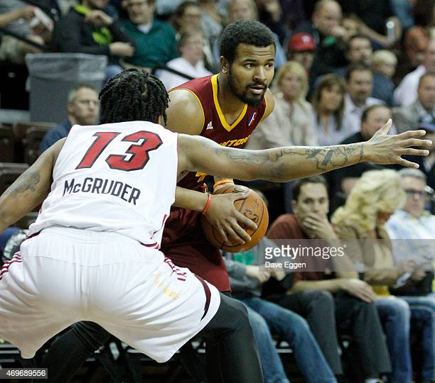 Chris Crawford from the Canton Charge looks to make a pass against Rodney McGruder from the Sioux Falls Skyforce in game two of the NBA DLeague...