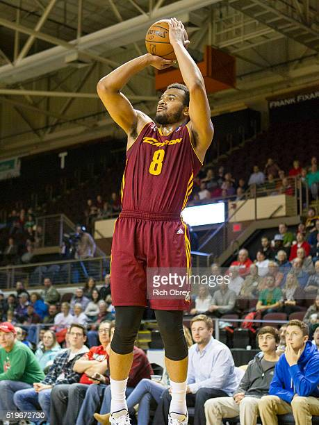 Chris Crawford of the Canton Charge shoots against the Maine Red Claws on April 7 2016 at the Portland Expo in Portland Maine NOTE TO USER User...