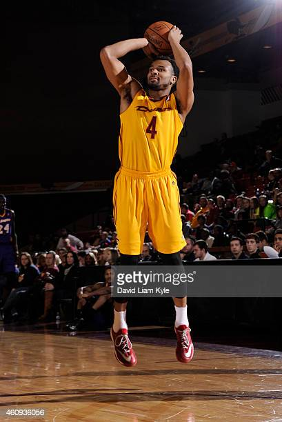 Chris Crawford of the Canton Charge shoots the ball against the Los Angeles DFenders at the Canton Memorial Civic Center on December 30 2014 in...