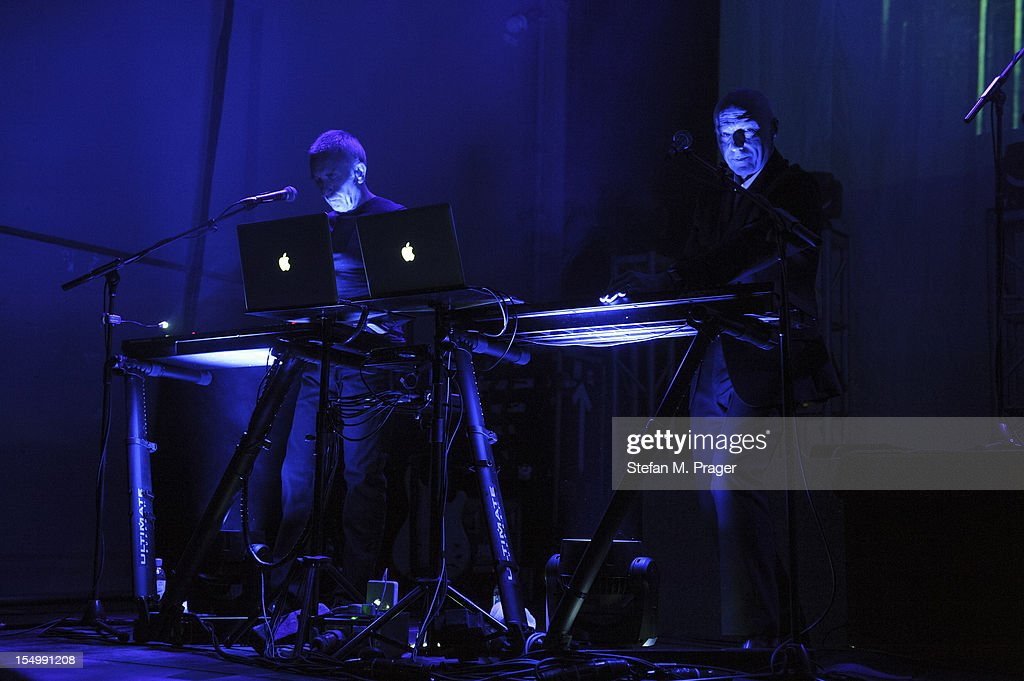 Chris Cross and Midge Ure of Ultravox perform on stage at Kesselhaus on October 29, 2012 in Munich, Germany.