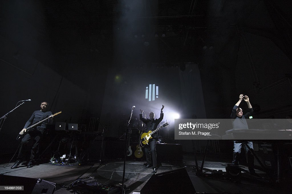 Chris Cross, Midge Ure, Warren Cann and Billy Currie of Ultravox performs on stage at Kesselhaus on October 29, 2012 in Munich, Germany.