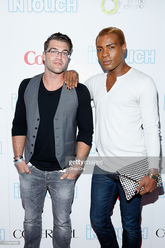 Chris 'C.T.' Tamburello (L) and guest arrive at Intouch Weekly's 'ICONS & IDOLS Party' at FINALE Nightclub on August 25, 2013 in New York City.