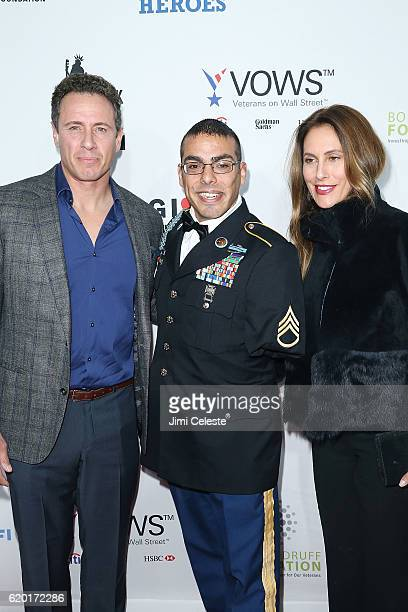 Chris Cuomo Michael Kacer and Cristina Greeven Cuomo attend the New York Comedy Festival and the Bob Woodruff Foundation Present the 10th Annual...