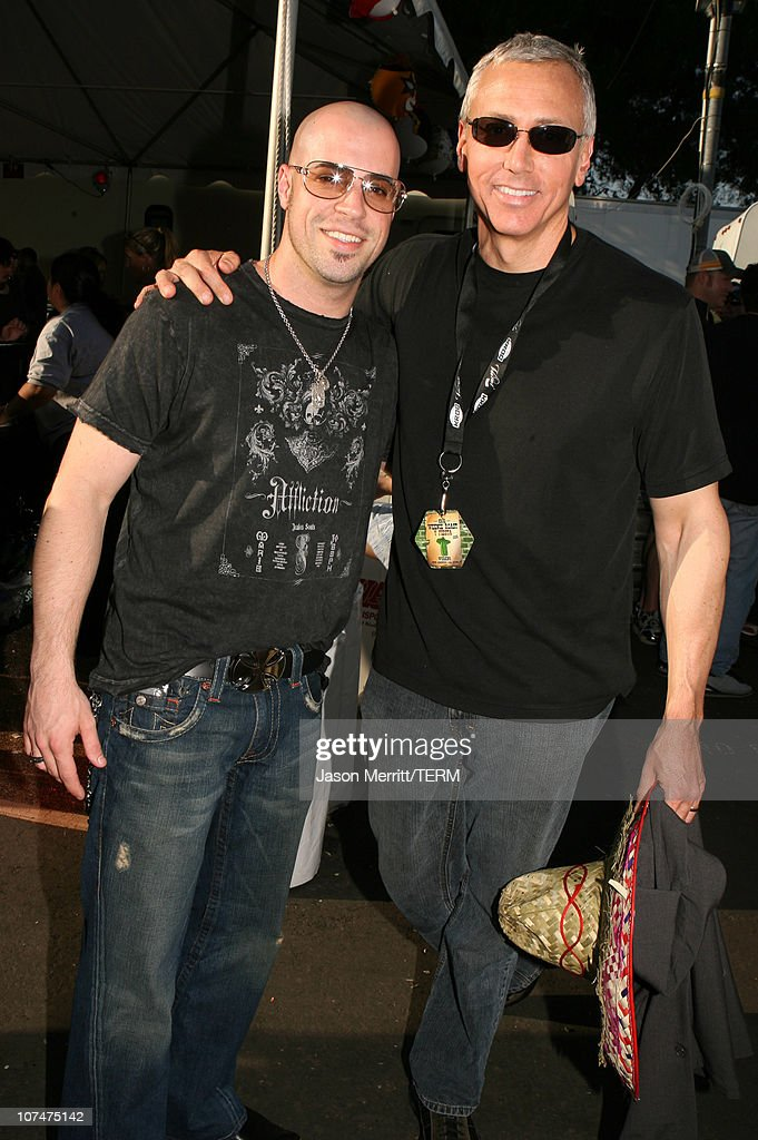 Chris Daughtry and Dr. Drew during KROQ Weenie Roast Y Fiesta 2006 - Backstage and Audience at Verizon Wireless Amphitheater in Irvine, California, United States.