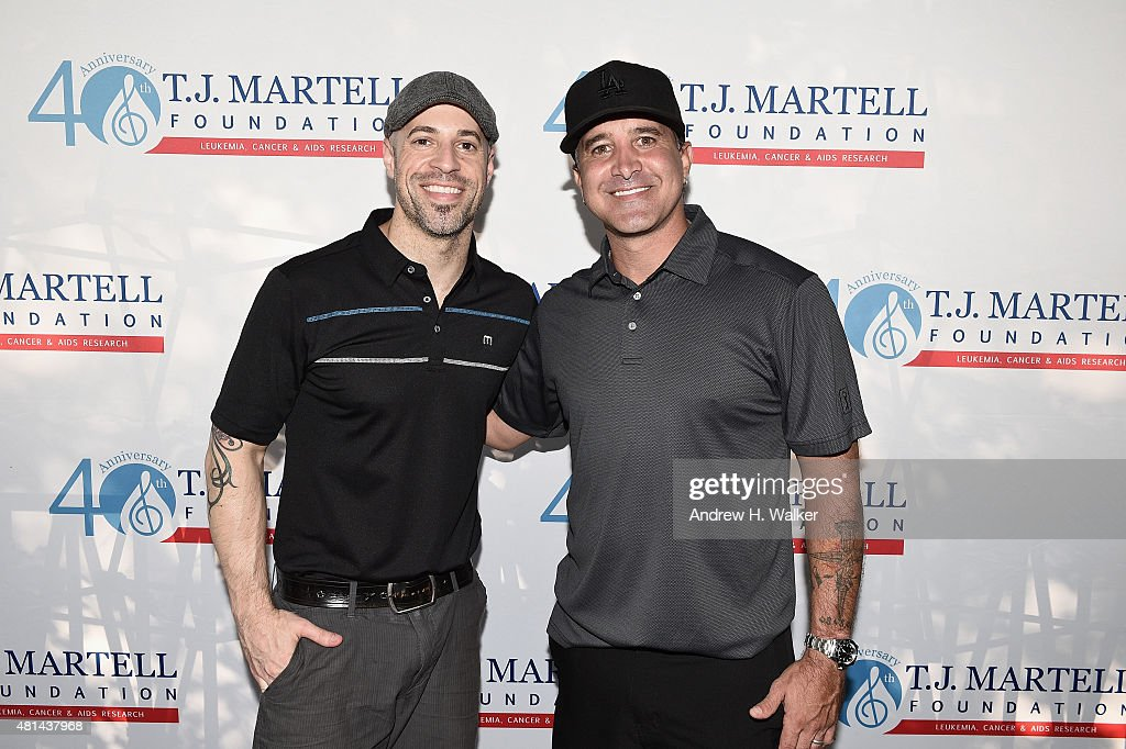<a gi-track='captionPersonalityLinkClicked' href=/galleries/search?phrase=Chris+Daughtry&family=editorial&specificpeople=614842 ng-click='$event.stopPropagation()'>Chris Daughtry</a> and <a gi-track='captionPersonalityLinkClicked' href=/galleries/search?phrase=Scott+Stapp&family=editorial&specificpeople=218051 ng-click='$event.stopPropagation()'>Scott Stapp</a> attend the T.J. Martell Foundation New York Golf Classic on July 20, 2015 in Croton-on-Hudson City.