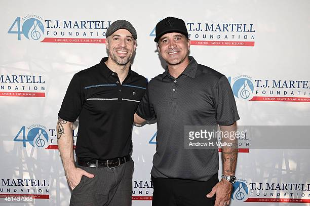 Chris Daughtry and Scott Stapp attend the TJ Martell Foundation New York Golf Classic on July 20 2015 in CrotononHudson City