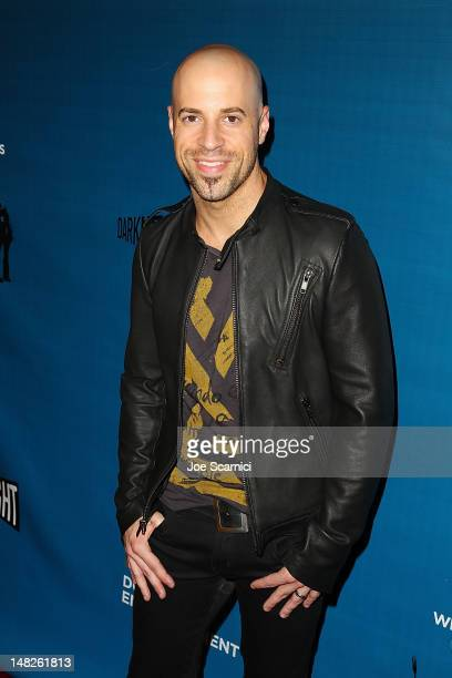 Chris Daughtry arrives at the ComicCon International 2012 DC Entertainment's 'Darkness Light' VIP Party at Michael J Wolf Fine Arts Gallery on July...