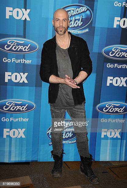 Chris Daughtry attends FOX's 'American Idol' finale for the farewell season at Dolby Theatre on April 7 2016 in Hollywood California
