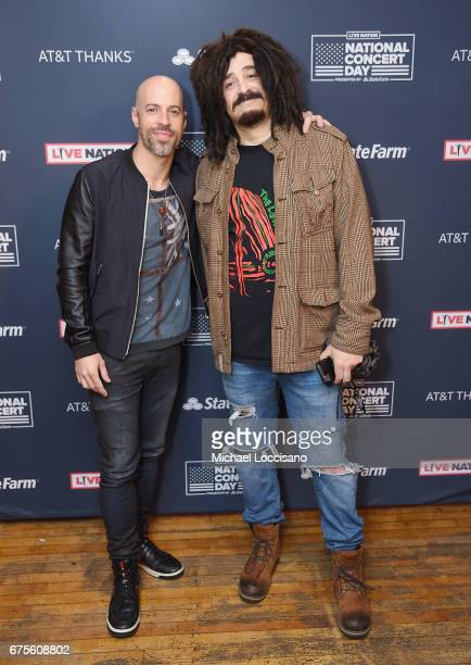 Chris Daughtry of Daughtry and Adam Duritz of Counting Crows attend Live Nation's celebration of The 3rd Annual National Concert Day at Irving Plaza...