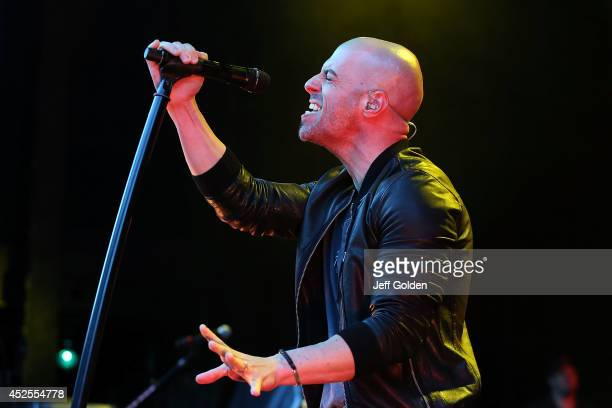 Chris Daughtry of Daughtry performs at The Greek Theatre on July 22 2014 in Los Angeles California