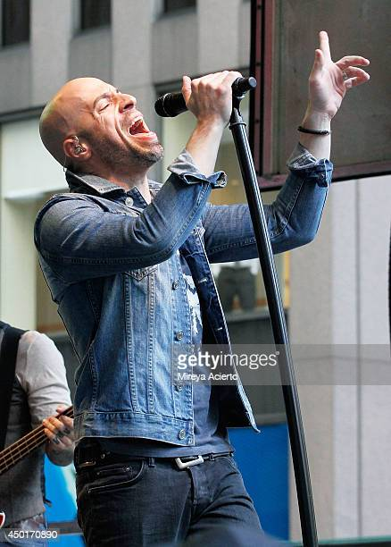 Chris Daughtry of Daughtry performs during 'FOX Friends' All American Concert Series outside of FOX Studios on June 6 2014 in New York City