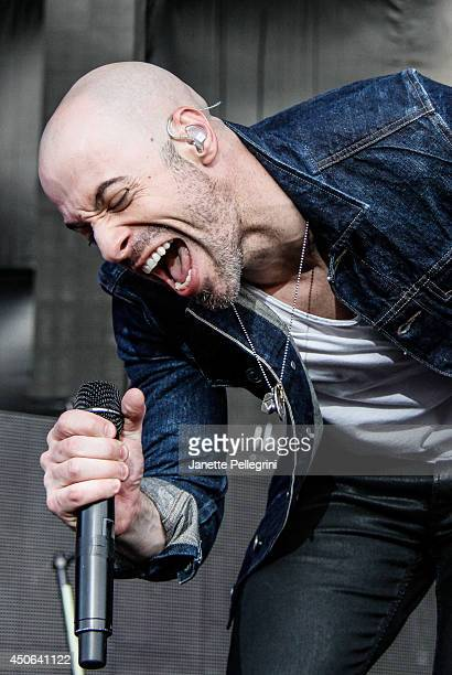 Chris Daughtry of Daughtry performs in concert at Nikon at Jones Beach Theater on June 14 2014 in Wantagh New York