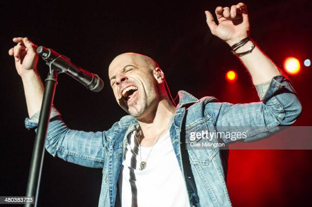 Chris Daughtry of Daughtry performs on stage at O2 Academy on March 24 2014 in Birmingham United Kingdom