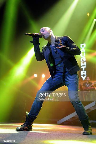 Chris Daughtry of rock band Daughtry performs at BBT Center on February 20 2013 in Sunrise Florida