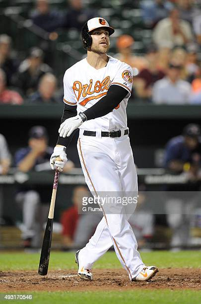 Chris Davis of the Baltimore Orioles bats against the Boston Red Sox at Oriole Park at Camden Yards on September 14 2015 in Baltimore Maryland