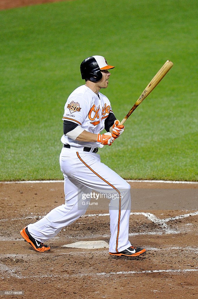 <a gi-track='captionPersonalityLinkClicked' href=/galleries/search?phrase=Chris+Davis+-+Baseball+-+Texas+Rangers&family=editorial&specificpeople=7129264 ng-click='$event.stopPropagation()'>Chris Davis</a> #19 of the Baltimore Orioles bats against the Texas Rangers at Oriole Park at Camden Yards on July 1, 2014 in Baltimore, Maryland.