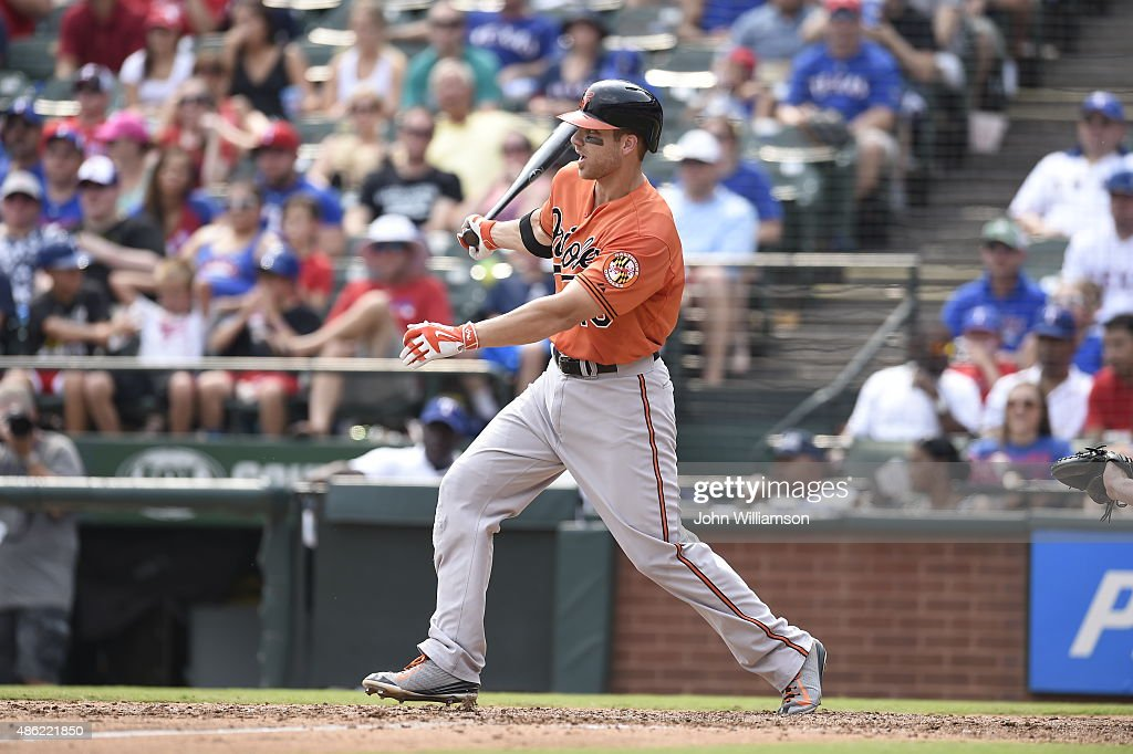<a gi-track='captionPersonalityLinkClicked' href=/galleries/search?phrase=Chris+Davis+-+Baseball+-+Texas+Rangers&family=editorial&specificpeople=7129264 ng-click='$event.stopPropagation()'>Chris Davis</a> #19 of the Baltimore Orioles bats against the Texas Rangers at Globe Life Park in Arlington on August 30, 2015 in Arlington, Texas. The Texas Rangers defeated the Baltimore Orioles 6-0.