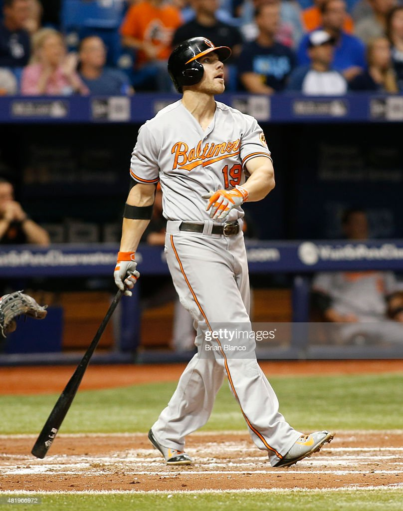 <a gi-track='captionPersonalityLinkClicked' href=/galleries/search?phrase=Chris+Davis+-+Baseball+Player&family=editorial&specificpeople=7129264 ng-click='$event.stopPropagation()'>Chris Davis</a> #19 of the Baltimore Orioles hits a grand slam home run off of pitcher Erasmo Ramirez #30 of the Tampa Bay Rays during the third inning of a game on July 25, 2015 at Tropicana Field in St. Petersburg, Florida.