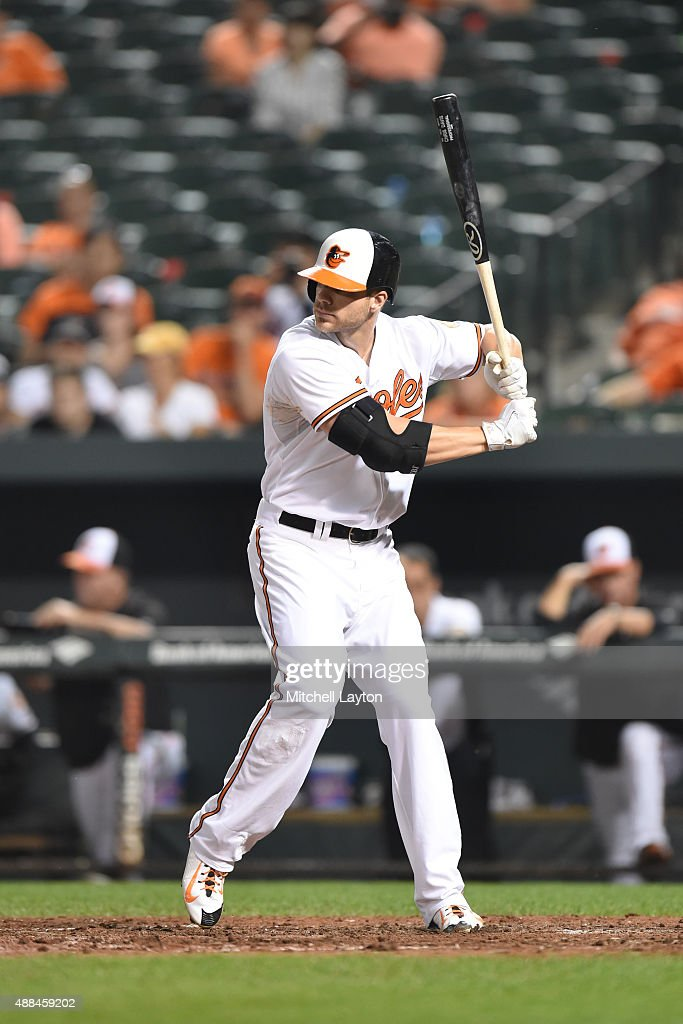 <a gi-track='captionPersonalityLinkClicked' href=/galleries/search?phrase=Chris+Davis+-+Baseball+Player&family=editorial&specificpeople=7129264 ng-click='$event.stopPropagation()'>Chris Davis</a> #19 of the Baltimore Orioles prepares for a pitch during a baseball game against the Tamps Bay Rays at Oriole Park at Camden Yards on August 31, 2015 in Baltimore, Maryland. The Rays won 6-3.