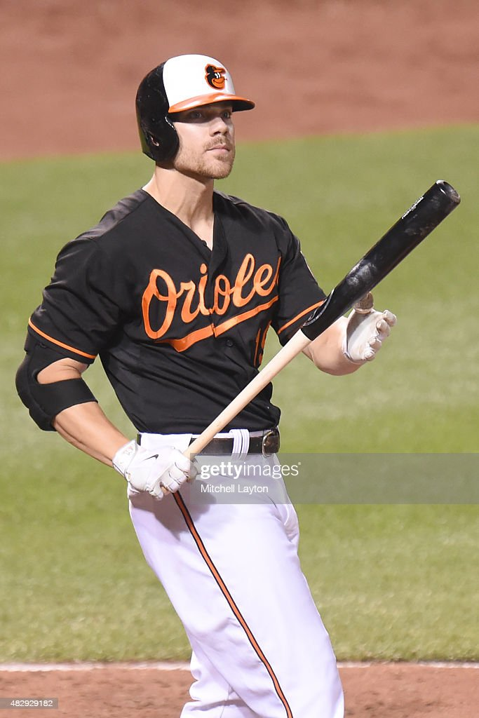 <a gi-track='captionPersonalityLinkClicked' href=/galleries/search?phrase=Chris+Davis+-+Baseball+Player&family=editorial&specificpeople=7129264 ng-click='$event.stopPropagation()'>Chris Davis</a> #19 of the Baltimore Orioles reacts to a pitch during a baseball game against the Detroit Tigers at Oriole Park at Camden Yards on July 31, 2015 in Baltimore, Maryland. The Orioles won 8-7.