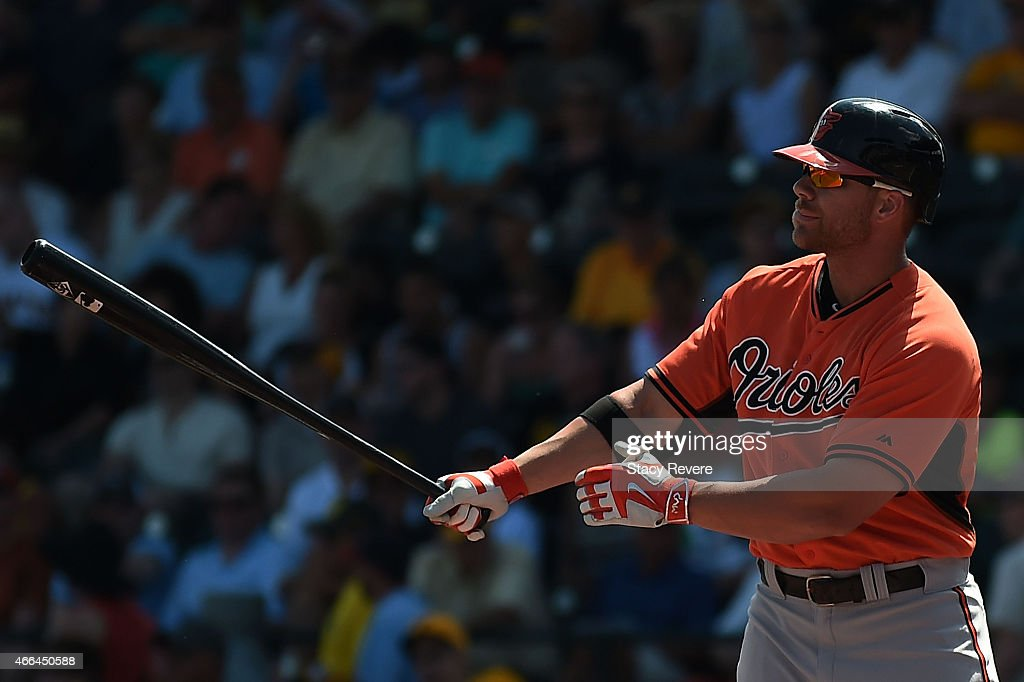 <a gi-track='captionPersonalityLinkClicked' href=/galleries/search?phrase=Chris+Davis+-+Baseball+Player&family=editorial&specificpeople=7129264 ng-click='$event.stopPropagation()'>Chris Davis</a> #19 of the Baltimore Orioles waits for a pitch during a spring training game against the Pittsburgh Pirates at McKechnie Field on March 15, 2015 in Bradenton, Florida.