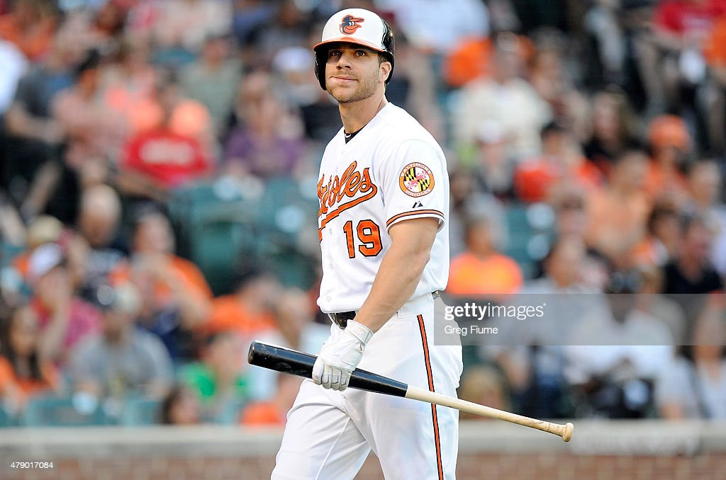 <a gi-track='captionPersonalityLinkClicked' href=/galleries/search?phrase=Chris+Davis+-+Baseball+-+Texas+Rangers&family=editorial&specificpeople=7129264 ng-click='$event.stopPropagation()'>Chris Davis</a> #19 of the Baltimore Orioles walks to the dugout after striking out in the second inning against the Texas Rangers at Oriole Park at Camden Yards on June 29, 2015 in Baltimore, Maryland.