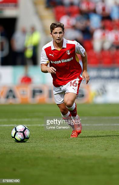 Chris Dawson of Rotherham United during the PreSeason Friendly match between Rotherham United and Sunderland at the AESSEAL New York Stadium on July...