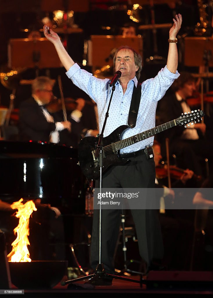 Chris de Burgh performs at the opening night of the Classic Open Air festival at Gendarmenmarkt on July 21 2016 in Berlin Germany