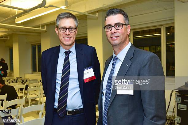 Chris Delson and James Whelan attend The Commercial Observer Financing Commercial Real Estate at 666 Fifth Avenue on November 15 2016 in New York City
