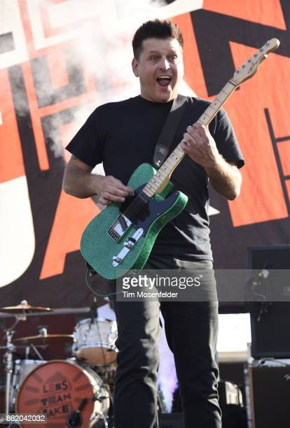 Chris DeMakes of Less than Jake performs during the Punk In Drublic Craft Beer And Music Festival at California Exposition on October 15 2017 in...