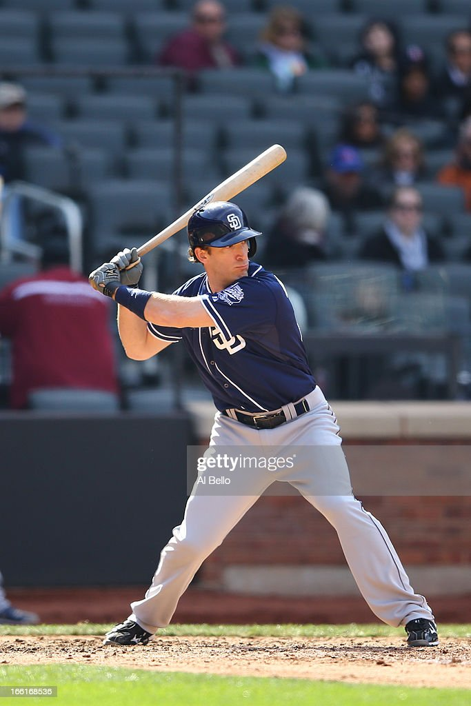 <a gi-track='captionPersonalityLinkClicked' href=/galleries/search?phrase=Chris+Denorfia&family=editorial&specificpeople=702417 ng-click='$event.stopPropagation()'>Chris Denorfia</a> #13 of the San Diego Padres in action against the New York Mets during their game on April 4, 2013 at Citi Field in the Flushing neighborhood of the Queens borough of New York City.
