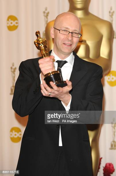 Chris Dickens with the Acheivement in Editing award received for Slumdog Millionaire at the 81st Academy Awards at the Kodak Theatre Los Angeles