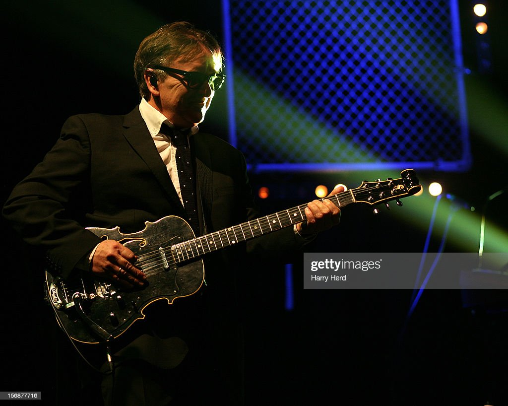 <a gi-track='captionPersonalityLinkClicked' href=/galleries/search?phrase=Chris+Difford&family=editorial&specificpeople=2011134 ng-click='$event.stopPropagation()'>Chris Difford</a> of Squeeze performs at 02 Academy on November 23, 2012 in Bournemouth, England.