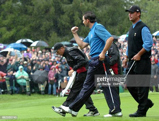 Chris DiMarco US Ryder Cup Team and Sergio Garcia Europe Ryder Cup Team