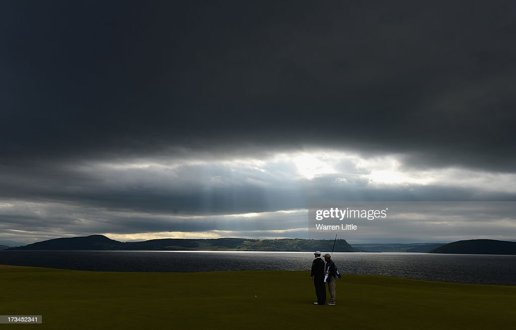 Chris Doak of Scotland waits on the 18th green during the final round of the Aberdeen Asset Management Scottish Open at Castle Stuart Golf Links on July 14, 2013 in Inverness, Scotland.
