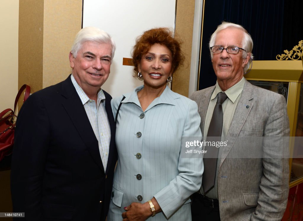 Chris Dodd, CEO & Chairman of the Motion Picture Association, Janet Cohen and director <a gi-track='captionPersonalityLinkClicked' href=/galleries/search?phrase=Michael+Apted&family=editorial&specificpeople=211167 ng-click='$event.stopPropagation()'>Michael Apted</a> attend an evening with director <a gi-track='captionPersonalityLinkClicked' href=/galleries/search?phrase=Michael+Apted&family=editorial&specificpeople=211167 ng-click='$event.stopPropagation()'>Michael Apted</a> presented by the Motion Picture Association of America Present at the Motion Picture Association of America on July 12, 2012 in Washington, DC.