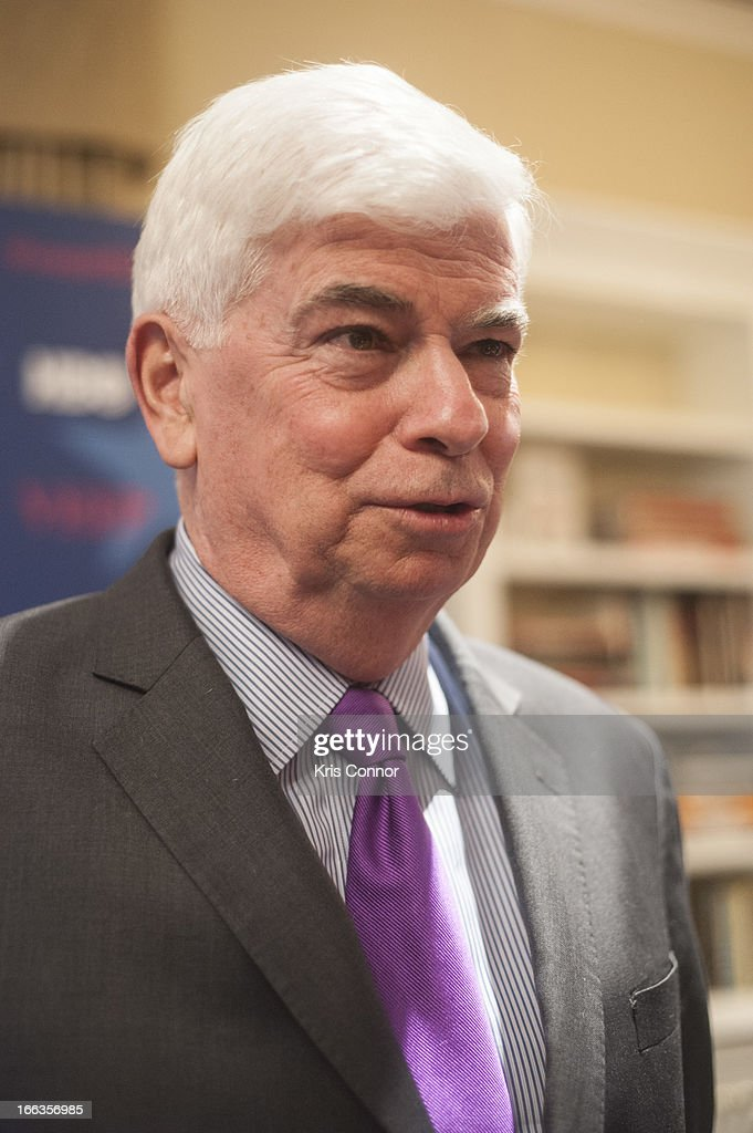 Chris Dodd poses for photo during the HBO's 'VEEP' Season 2 Premiere at Motion Picture Association of America on April 11, 2013 in Washington, DC.