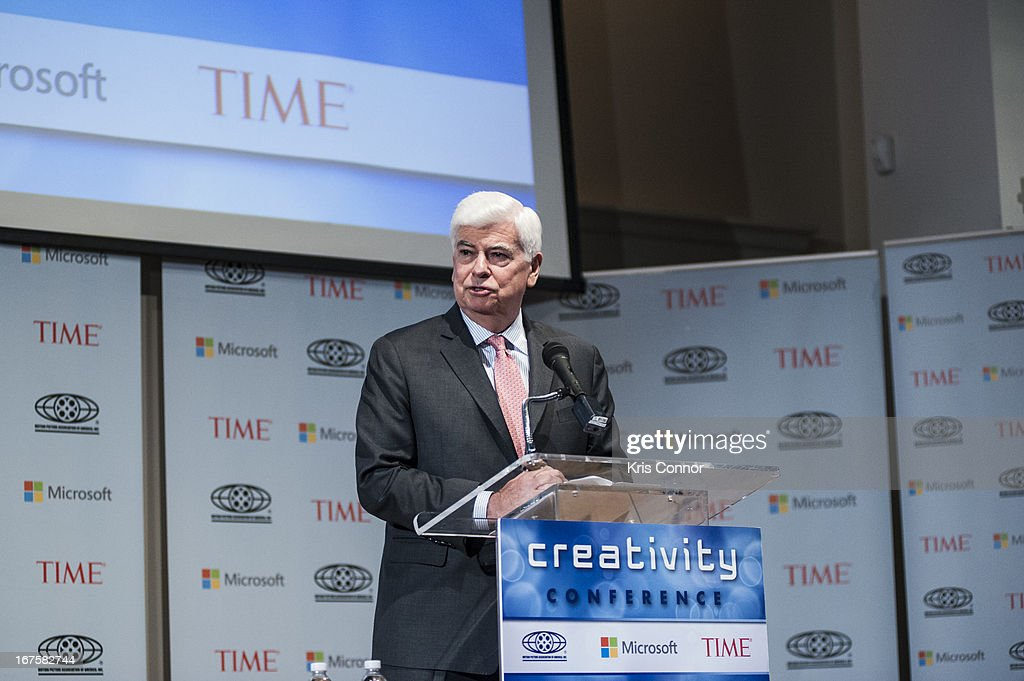 Chris Dodd speaks during the Creativity Conference at the Corcoran Gallery of Art on April 26, 2013 in Washington, DC.