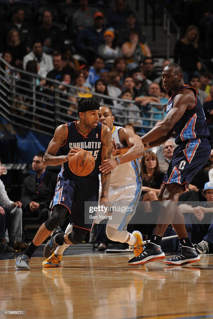 <a gi-track='captionPersonalityLinkClicked' href=/galleries/search?phrase=Chris+Douglas-Roberts&family=editorial&specificpeople=728571 ng-click='$event.stopPropagation()'>Chris Douglas-Roberts</a> #55 of the Charlotte Bobcats drives against the Denver Nuggets on January 29, 2014 at the Pepsi Center in Denver, Colorado.