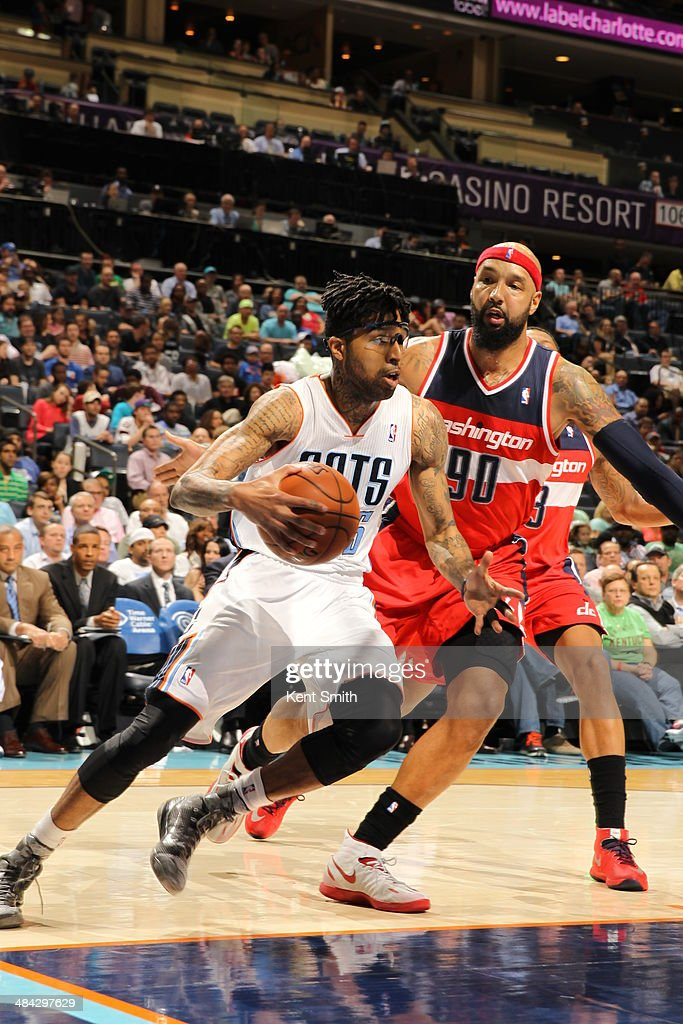 <a gi-track='captionPersonalityLinkClicked' href=/galleries/search?phrase=Chris+Douglas-Roberts&family=editorial&specificpeople=728571 ng-click='$event.stopPropagation()'>Chris Douglas-Roberts</a> #55 of the Charlotte Bobcats handles the ball against the Washington Wizards at the Time Warner Cable Arena on March 31, 2014 in Charlotte, North Carolina.