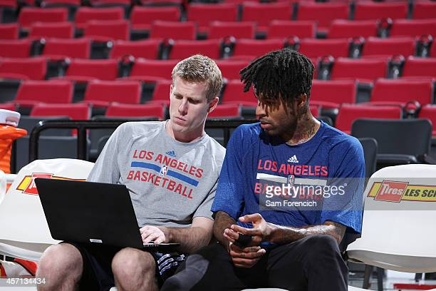 Chris DouglasRoberts of the Los Angeles Clippers goes over a play before a game against the Portland Trail Blazers on October 12 2014 at the Moda...